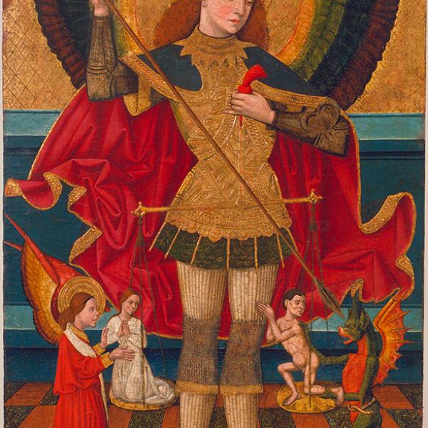 Sant Miquel pesant les ànimes Juan de la Abadia 1480